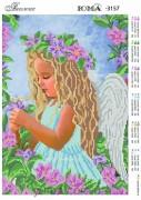 Схема вышивки бисером на атласе Ангелочек