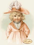 Схема вышивки бисером на атласе Малышка Эльза