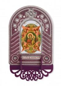 Набор для вышивки иконы с рамкой-киотом Богородица Неопалимая Купина