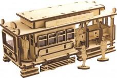 Набор деревянный конструктор Трамвай  Чарiвна мить (Чаривна мить) F-104