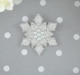Набор для вышивки броши на велюре Снежинка Tela Artis (Тэла Артис) Б-206ТА - 150.00грн.