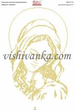 Схема для вышивки бисером на атласе Мадонна і немовля Вишиванка А3-311 атлас