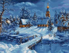 Набор для вышивки крестом Зимний пейзаж Luca-S В447