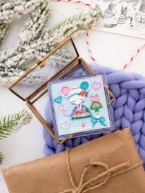 Набор - магнит для вышивки бисером на акриловой основе Маленькая модница Абрис Арт АРВ-021 - 72.00грн.