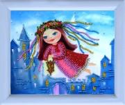 Рисунок на атласе для вышивки бисером Ангел-хранитель