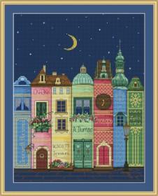 Набор для вышивки нитками Книжный город