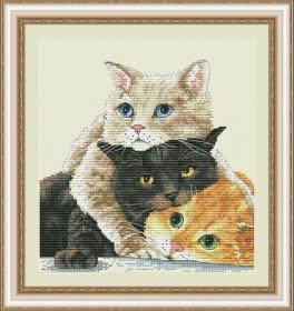 Набор для вышивки нитками Пушистые друзья