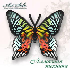 Набор-магнит для выкладки алмазной мозаикой Урания мадагаскарская (Chrysiridia rhipheus) Art Solo БАТ08 - 110.00грн.