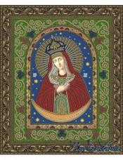 Схема для вышивки бисером на атласе Икона Пресвятой Богородицы Остробрамская Вдохновение БГИ-4008