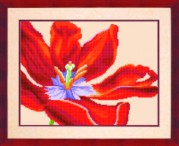 Схемы для вышивания бисером на авторской канве Тюльпан