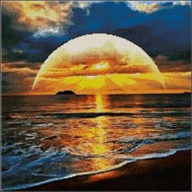 Схема для вышивки бисером на атласе Закат солнца Эдельвейс А-2-087 атлас - 190.00грн.