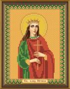 Схема для вышивки бисером на габардине Св. Вмц Ирина Македонская