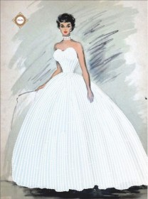 Схема для вышивки бисером на атласе Хрустальная невеста