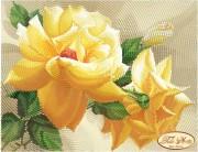 Схема для вышивки бисером на атласе Роза флорибунда