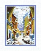 Набор для вышивания крестом Зимний дворик