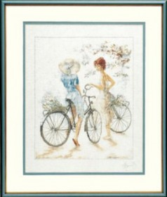 Набор для вышивки крестом LanArte Girls on Bicycle Девушки на велосипедах LanArte PN-0007949 - 883.00грн.