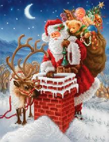 Схема вышивки бисером на атласе Доставка подарков