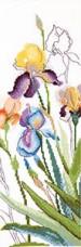 Набор для вышивания крестом Акварельные ирисы Cristal Art ВТ-246