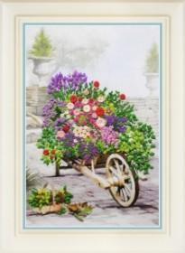 Набор для вышивки нитками (стиль Rococo) Цветы в саду
