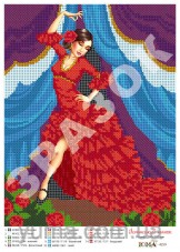Схема вышивки бисером на атласе Испанский танок Юма ЮМА-4259