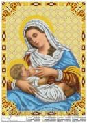 """Схема вышивки бисером на атласе Пресвятая Богородица """"Кормящая"""" (Млекопитательница)"""