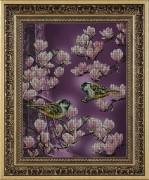 Набор для вышивки бисером Залит лучами розового цвета