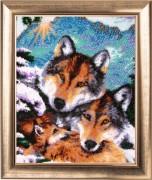 Набор для вышивки бисером Семейство Волков