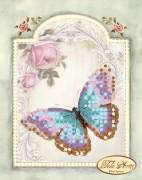 Схема для вышивки бисером на атласе Винтажная бабочк