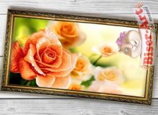 Схема вышивки бисером на габардине Панно Троянда Biser-Art 3060008