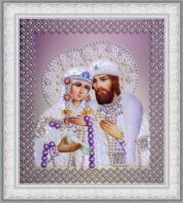 Набор для вышивки бисером Святые Петр и Феврония (жемчуг) серебро Картины бисером Р-388