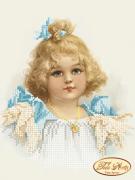 Схема вышивки бисером на атласе Кудряшка Сью