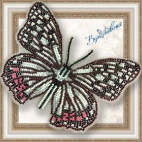 Набор для вышивки бисером на прозрачной основе Бабочка ПЕРЕЛИВНИЦА