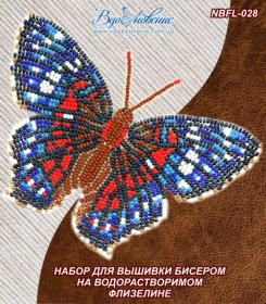 Набор для вышивки бисером Бабочка Красный Павлин Вдохновение NBFL-028 - 115.00грн.