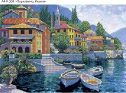 Схема для вышивки бисером на габардине Портофино, Италия
