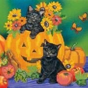 Рисунок на ткани для вышивки бисером Хэллоуин