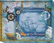 Набор для вышивки бисером Фоторамка Сокровища моря