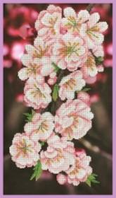 Набор для вышивки бисером Ветка сакуры, , 405.00грн., Р-350, Картины бисером, Цветы