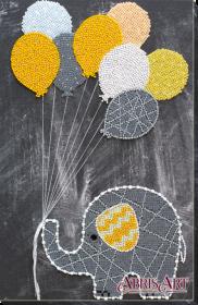 Набор для вышивки бисером на холсте Слоненок с шариками Абрис Арт AB-655 - 392.00грн.