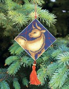 Набор для вышивки нитками Новогодняя игрушка Гороскоп бык