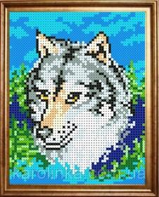 Набор для вышивки бисером Волк