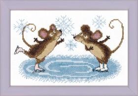 Набор для вышивки крестом Зимние развлечения Cristal Art ВТ-022 - 64.00грн.