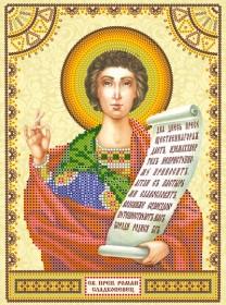 Схема для вышивки бисером на холсте Святой Роман
