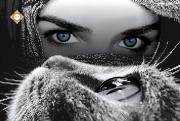 Схема для вышивки бисером на атласе Глаза в глаза