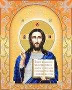 Схема для вышивки бисером на атласе Господь Вседержитель (золото)
