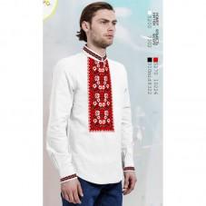 Заготовка для вышивки мужской сорочки на белом льне Biser-Art 1569