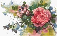 Набор для вышивки крестом Красные розы Luca-S В2383