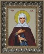 Схема вышивки бисером на ткани Св. Анна