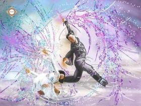 Схема вышивки бисером на атласе Танцы на льду