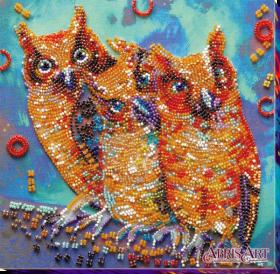 Набор для вышивки бисером на холсте Веселая троица Абрис Арт АМВ-054 - 219.00грн.