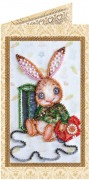 Набор - открытка для вышивки бисером Зайка Тедди 1